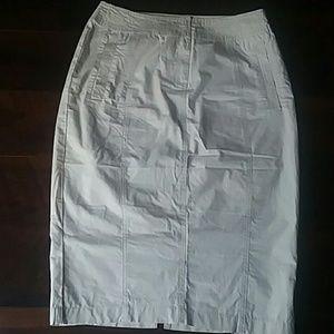 Beige 100% Cotton Pencil Skirt NWOT